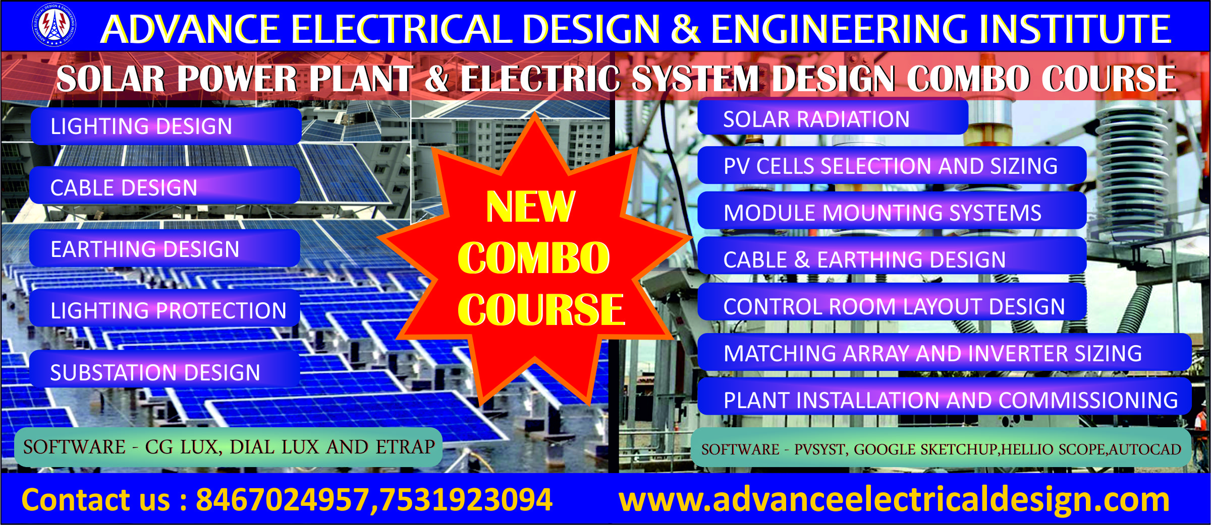 Electrical & Solar Design engineering course, Electrical System Design course, Solar power plant Design Course
