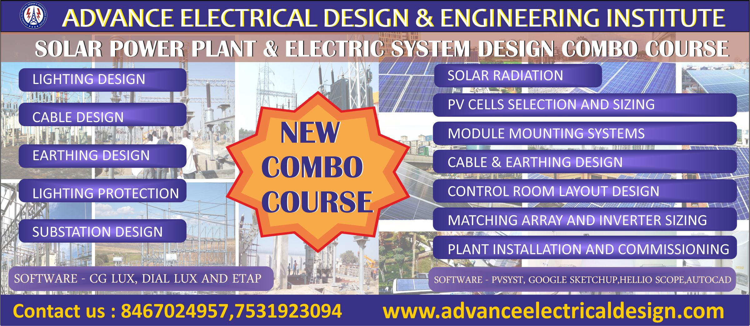 Awesome Electrical System Design Course Institute Solar Power Plant Interior Design Ideas Gentotryabchikinfo