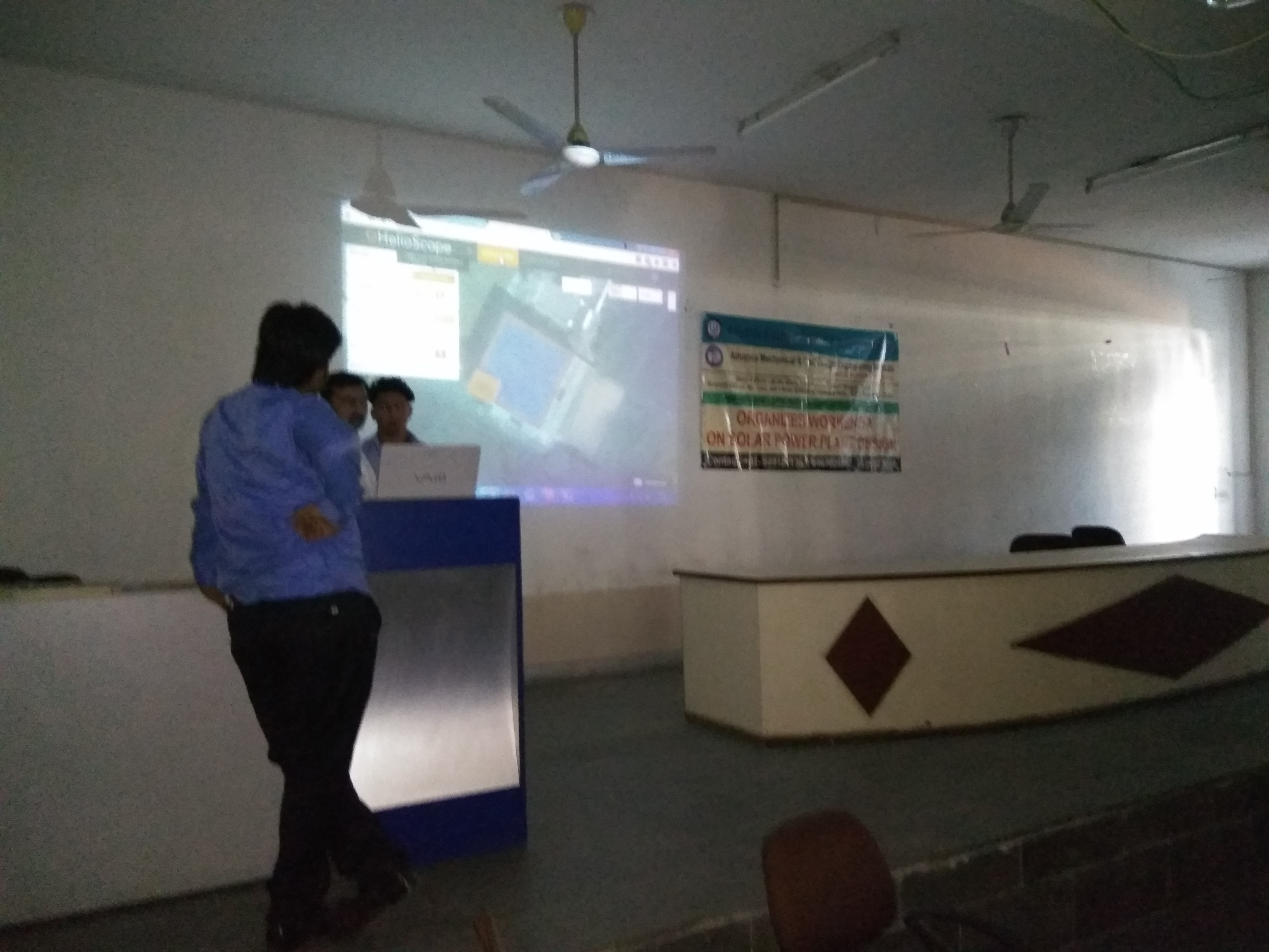 work shop on solar and electrical designing  by advance electrical desing engineering institute